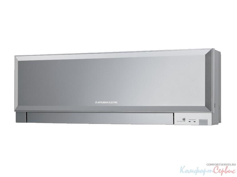 Инверторная сплит-система настенного типа Mitsubishi Electric MSZ-EF25 VE/ MUZ-EF25 VE S (silver) серия Design