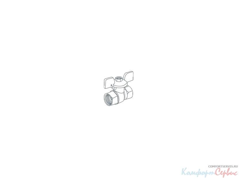 Кран шаровый Royal Thermo EXPERT 3/4 вн-вн, ручка-бабочка